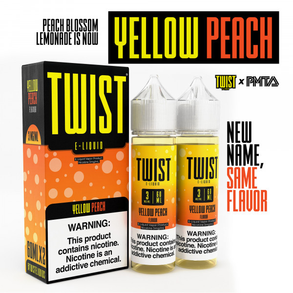Yellow Peach by Twist E-liquids - ( 2 Pack)