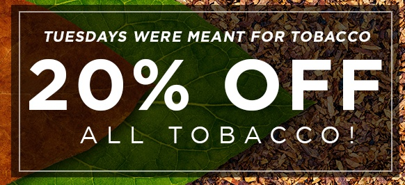 20% off tobacco